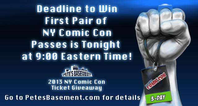Last Day of NY Comic Con Giveaway part 1