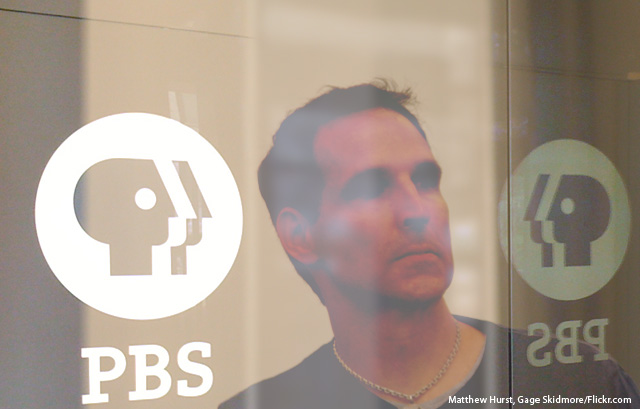Todd McFarlane looks like the PBS logo head