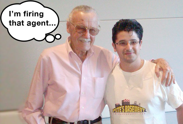 Stan Lee with Pete of Pete's Basement