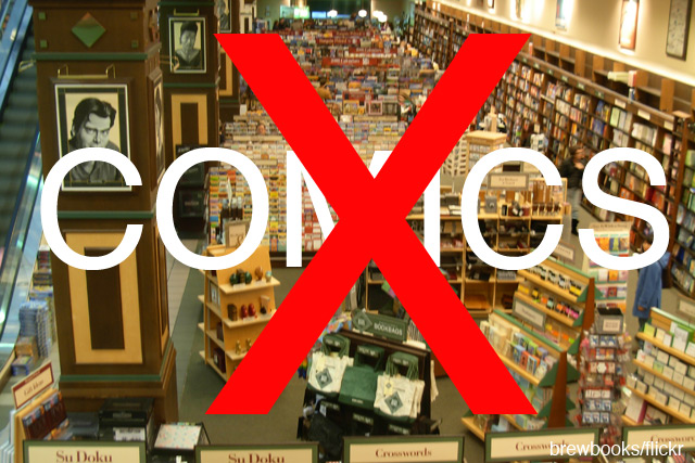 No more Marvel Comics at Barnes & Noble