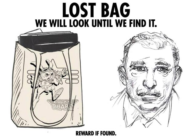 Neal Adams Lost Bag Poster