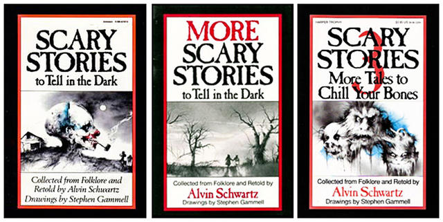 Scary Stories to Tell in the Dark covers