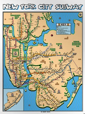 new york a mushroom kingdom style robert bacon mario ized the nyc subway system map they are for sale too along with other cities inspired by other