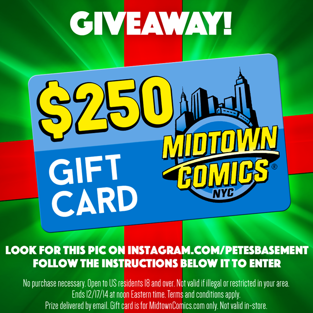Enter to win a $200 Midtown Comics Gift Card