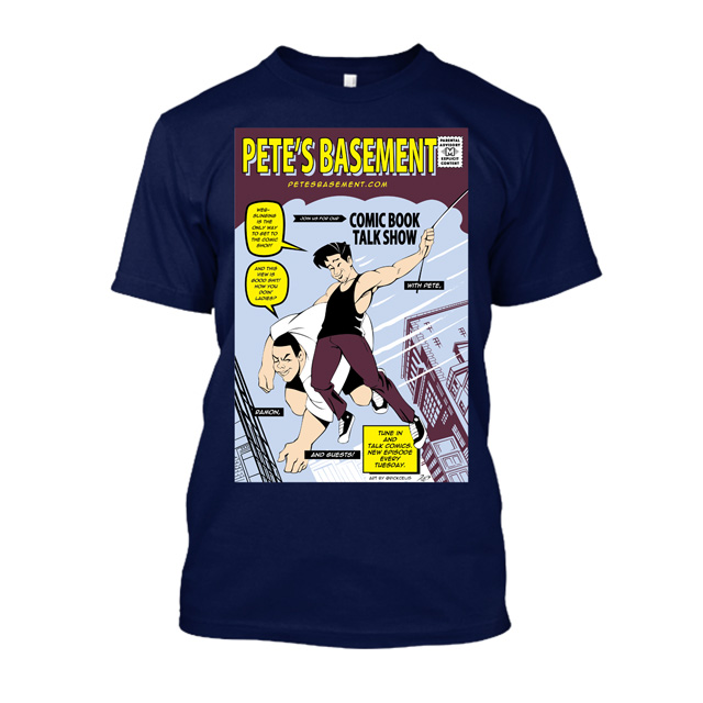 Amazing Fantasy Pete's Basement Mashup Tee by Rick Celis