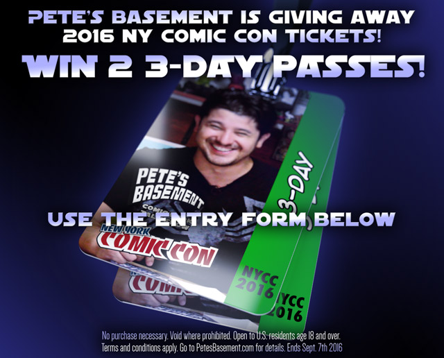 Pete's Basement is giving away passes to 2016 NY Comic Con
