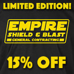 Empire Shield and Blast shirt.. Get yours for a limited time.
